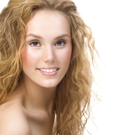 Beautiful Girl With Curly Hair photo