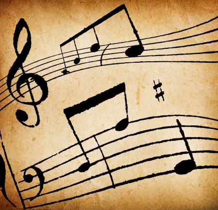 musical note: Vintage Music Background. For editors: NOT a musical composition at all!