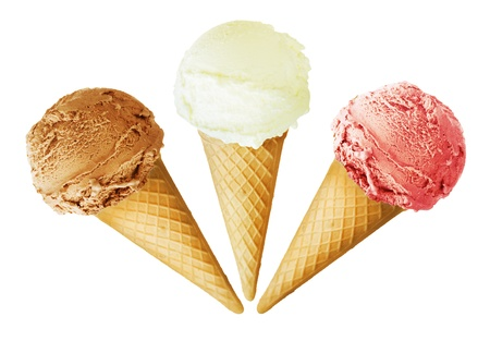 cream: Ice cream cones