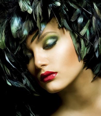 trucco: Bel viso di donna Fashion. Trucco perfetto Archivio Fotografico