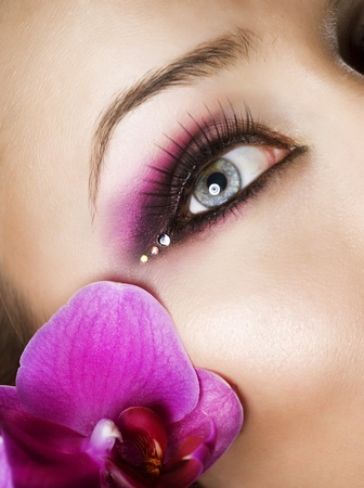 Beautiful Eye Makeup Stock Photo - 9526474