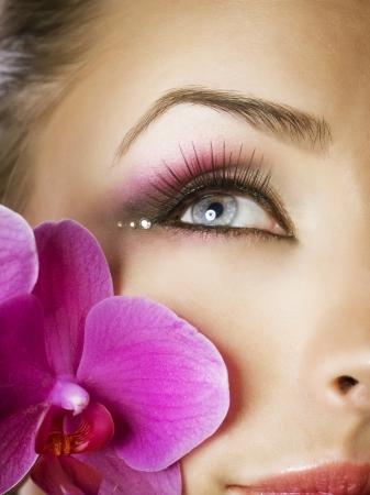smokey: Beautiful Eye Makeup Stock Photo