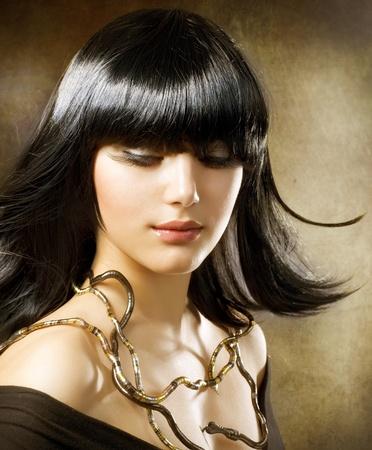 beautiful brunette. egyptian style. hairstyle Stock Photo - 9655670