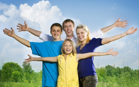 Happy Friends outdoors Stock Photo - 9722608