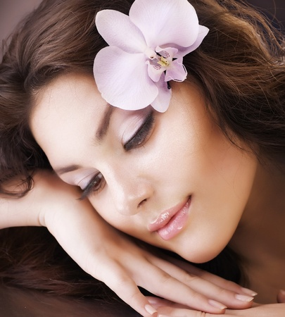 beautiful girl face: Spa Beauty. Healthy Skin