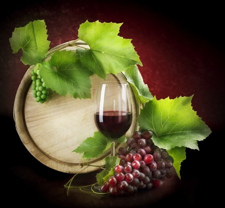 wine grapes: Wine Stock Photo