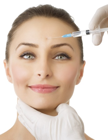 Beauty Injection of botox Stock Photo - 10042812