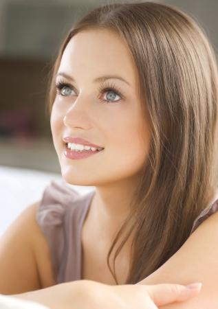 cute girlfriends: Beautiful Young Woman Portrait Stock Photo