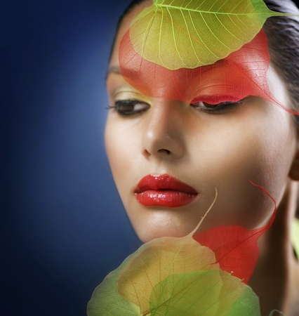 Autumn Makeup. Fashion Art Portrait Stock Photo - 10221540