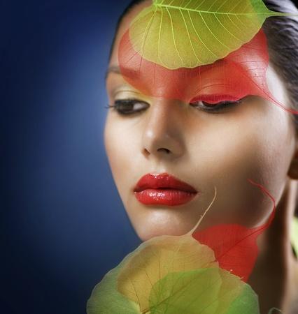 Autumn Makeup. Fashion Art Portrait photo