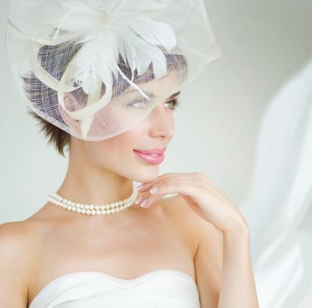 nude bride: Bride portrait. Wedding dress