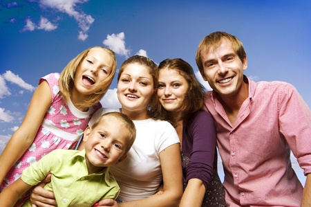 Happy Big Family  Stock Photo - 10679541