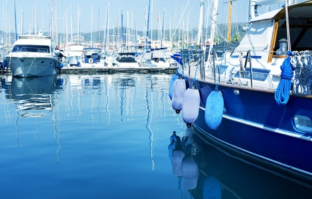 boating: Yachts in the harbor