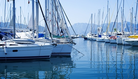 recreation yachts: Luxury Yachts in marina