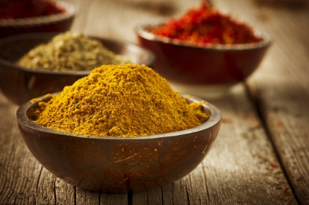 curry spices: Spices Curry, Saffron, Turmeric