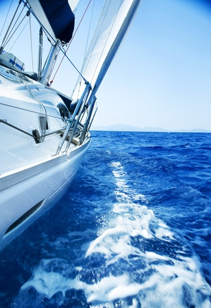 tour boats: Luxury Yacht under Sail. Tourism. Lifestyle