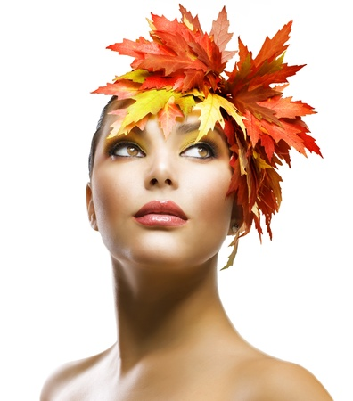 Autumn Woman Fashion Makeup  photo