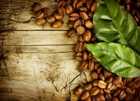 coffe bean: Antecedentes de caf�. Con copia-espacio para texto