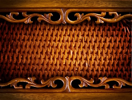 Vintage Carved Wood Background  photo