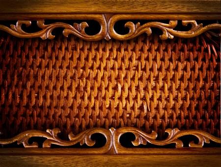 Naadloze: Vintage houtsnijwerk Achtergrond