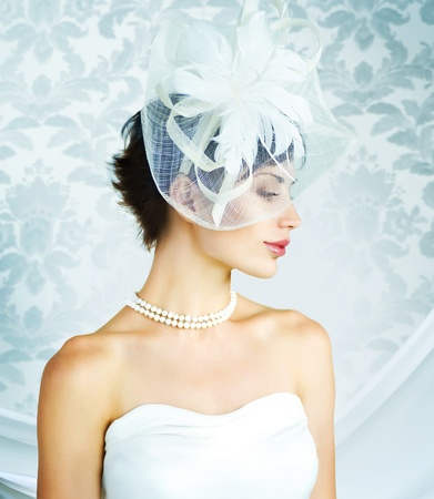 Bride portrait. Wedding dress  photo