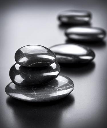 Spa Stones over Black  photo