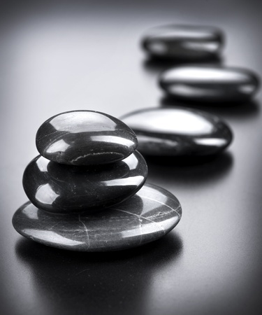 day spa: Spa Stones over Black  Stock Photo