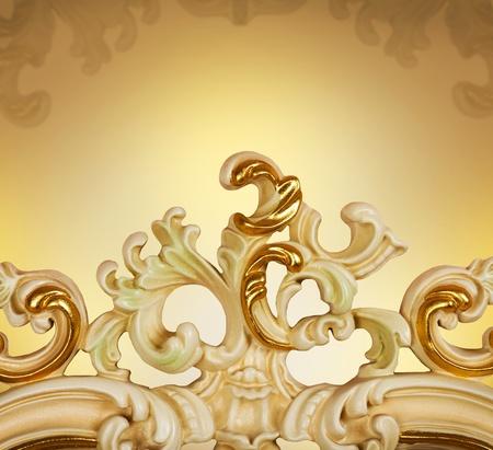 Carved Furniture. Luxury Interior detail  photo