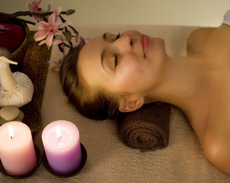 pamper: Thai Massage. Spa  Stock Photo