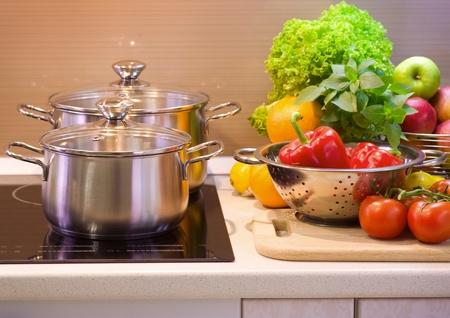 Kitchen Cooking closeup. Diet  photo