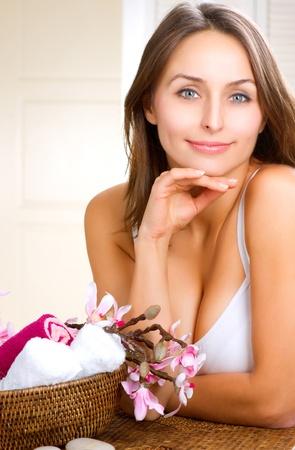 vejez feliz: Spa Retrato de una mujer