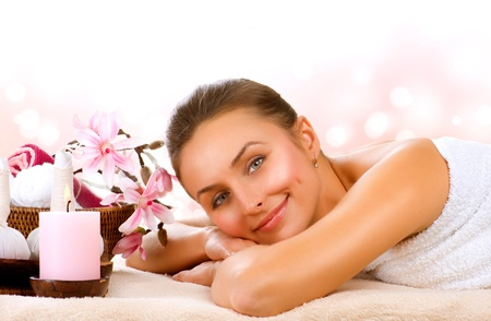 spa woman: Spa Woman. Thai Massage Stock Photo