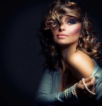 Fashion Beauty Portret. Sexy Girl Stockfoto