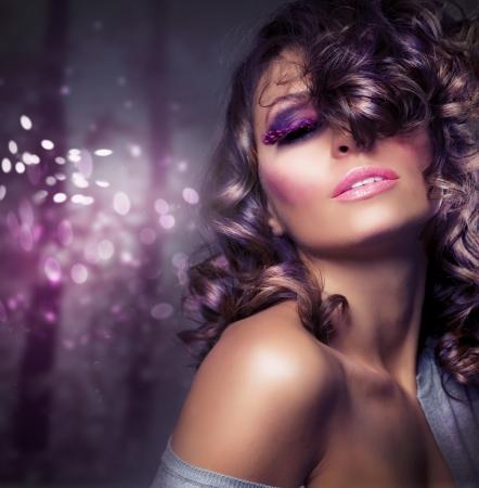 Fashion Beauty Portrait. Sexy Girl. Holiday Makeup Stock Photo - 10996549
