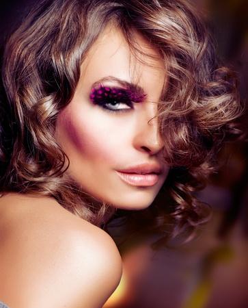 Fashion Beauty Girl. Fashion Vogue Style Portrait  photo