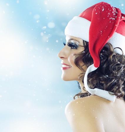 Christmas. Santa girl  photo