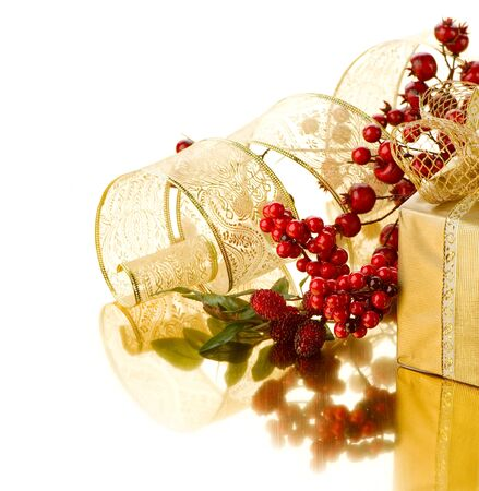 Christmas Gift box with decorations  photo