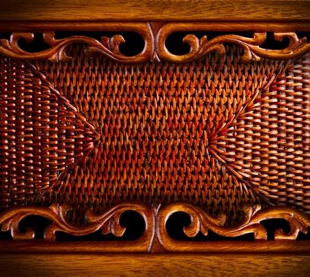 malacca: Vintage sfondo di legno intagliato