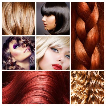 black hair: Hair Collage. Hairstyles