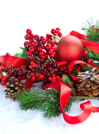 Christmas Decorations over white background  Stock Photo - 11559865