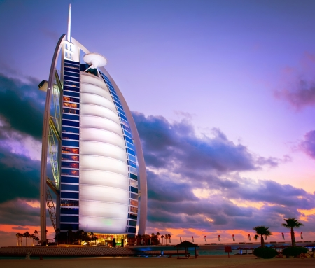 arab: Burj Al Arab hotel in Dubai  United Arab Emirates