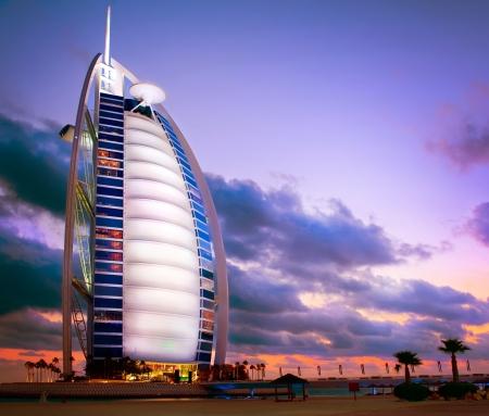Verenigde Arabische Emiraten: Burj Al Arab hotel in Dubai Verenigde Arabische Emiraten