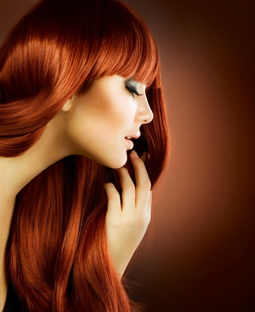 Beauty Portrait. Healthy Hair  photo