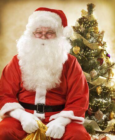 Santa Claus. Sepia toned Christmas Card  photo