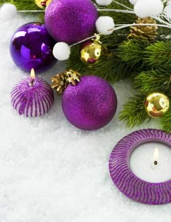Christmas Decorations over white background Stock Photo - 11559916
