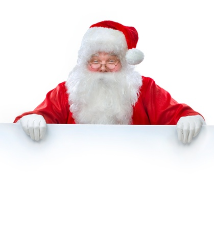Santa Claus holding Banner with Space for Your Text  photo