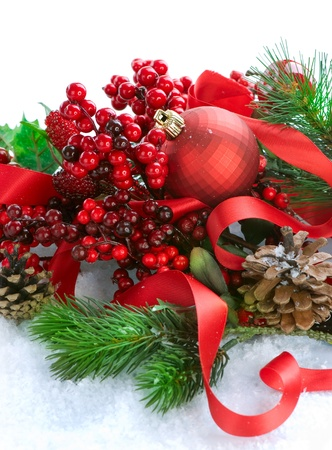 Christmas Decorations over white background Stock Photo - 11559909