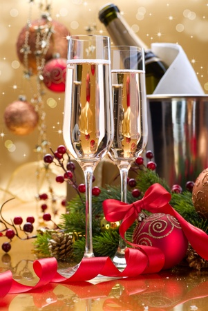 New Year Celebration. Champagne photo