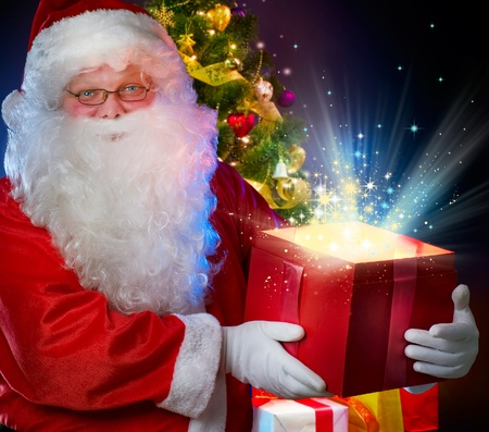 Santa Claus with Magic Gift  photo