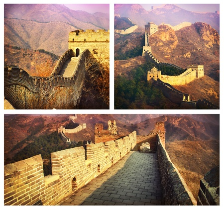 Great Wall Collage. China  photo